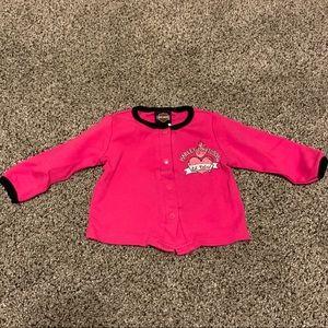Harley Davidson Pink Long Sleeve Top